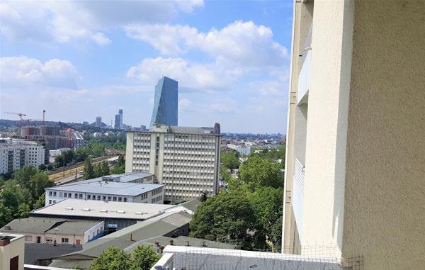 2 Zimmer Wohnung in der Nähe der EZB, Top-Ausblick
